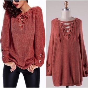 Sweaters - BOHO Lace Up Sweaters 2 for 1
